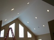 Wire right electric llc vaulted ceiling with sloped ceiling recessed lighting aloadofball Gallery